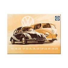 VW Volkswagen Beetle & Bus Fridge Magnet Refrigerator 2 3/8x3 1/8in