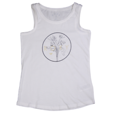 Roxy Girl's Off White Gold Palm Leaves Sleeveless Tank Top (S02)