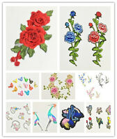 Embroidery Rose Flower Sew Iron On Patch Bag Hat Dress Applique Badge Craft·DIY