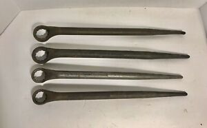 4 VINTAGE PROTO 12-POINT SPUD HANDLE BOX WRENCHES 2614, 2615, 2616, 2617 USA