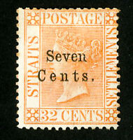 Straits Settlements Stamps # 21 F-VF Unused Rare Scott Value $180.00