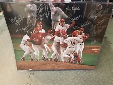 1993 Philadelphia Phillies Dog Pile signed by 10 players 16x20 photo With COA