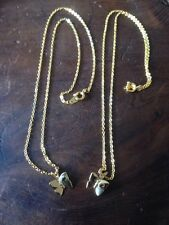 Fashion Gold Tone Butterfly February May Birthstone Necklaces