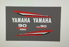 Yamaha  two 2 stroke Outboard Decals Sticker Kit 60 70 85 or 90 hp Marine vinyl