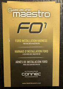 Maestro - Installation Harness for Select 2006 and Later Ford, Lincoln, Mazda...