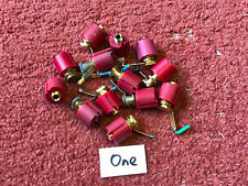One red genuine TANNOY 4mm rear connector speaker speakers sockets (523)