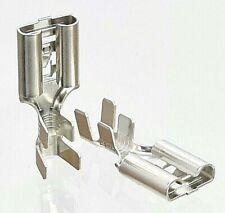 10x 9,5 Kabelschuhe Flachstecker Crimp Motorrad blank Stecker Kfz Lkw 4mm² ZNG