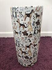 40cm Assorted Dogs Dog Design Round Ceramic Umbrella Stand Home Decor