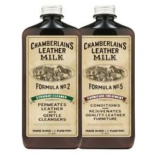 CHAMBERLAINS LEATHER MILK-CLEAN & CONDITION FURNITURE LEATHER CARE SET:NO. 2 & 5