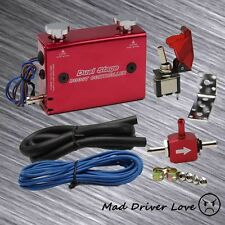 DUAL STAGE SWITCH MANUEL ADJUST TURBO WASTEGATE BOOST BYPASS CONTROLLER RED EG