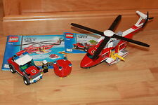 Lego City -  großes Feuerwehr Flugzeug & Auto, Figuren mit Anleitung Set 7206