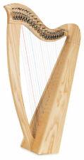 Keltische Harfe 22 Saiten Es-Dur Tasche Hakenmechanik Stimmschlüssel Esche Natur