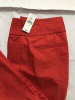 Ann Taylor Loft Julie Skinny Pants Womens Size 6 Red Stretch Career Office NWT