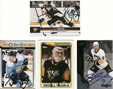 TYLER KENNEDY, PITTSBURGH PENGUINS, RARE AUTO'D/SIGNED NHL CARD.
