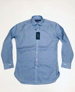 Ralph Lauren Men's Slim Fit Cotton Shirt               (Blue)    RRP £109