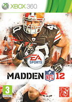 Madden NFL 12 Video Game for Microsoft Xbox 360 Sealed American Football PAL 3+