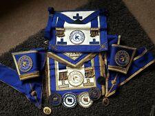 Job lot of Masonic collectables. Apron, Jewel & Sash etc.