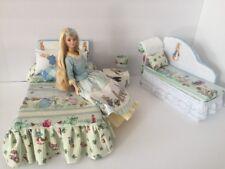 Barbie Or Monster High.furniture Bedroom Set:Bed,sofa,lamp,woodbox:Peter Rabbit