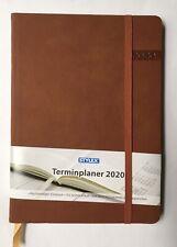 Terminplaner Buchkalender Chefplaner Kalender 2020 Braun / Gummiband %⬇️ Stylex