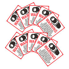 10Pcs Home CCTV Surveillance Security Camera Video Sticker Warning Signs 80x80mm
