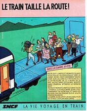Publicité Advertising 127  1984   SNCF  le train  par Serge Clerc