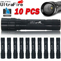 10PCS Zoomable 15000LM 3-Modes Lamp T6 LED Flashlight Torch Light Fit 18650BTY .