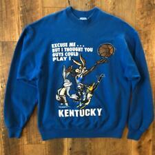 Rare Vtg 90s Looney Tunes Kentucky Wildcats Wile E Coyote Cartoon Sweat Shirt Xl