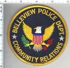 Belleview Police (Florida)  Community Relations Shoulder Patch - new from 1992