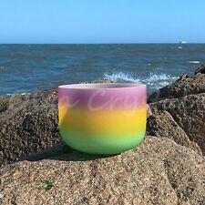"10"" B Crown Rainbow Quartz Crystal Singing Bowl Meditation Heal Stone"