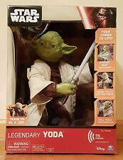 Brand New! Star Wars Legendary Yoda Jedi Master Interactive Talking Figure
