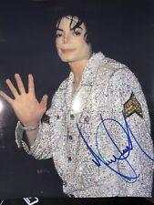 MICHAEL JACKSON Original Autogramm auf Großfoto 20x25 cm  -'GLOBAL' COA * Signed