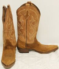 Resistol Mens Brown Boots Sz 8D Leather Cowboy Pointed Toe Western Country Ranch