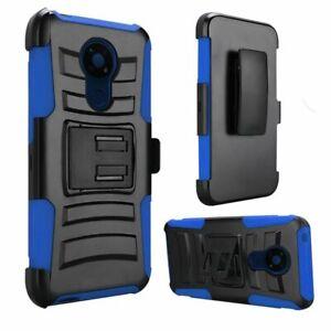 For Nokia C5 Endi Holster Belt Clip + Hybrid Case Phone Cover
