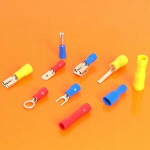 Insulated Electrical Crimp Terminals Spade Ring Bullet Fork Butt Wire Connectors
