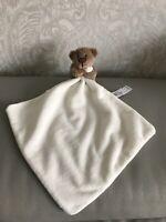 George asda cream brown teddy bear comforter blankie soother new bnwot