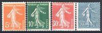 Francia Anno Completo 1921 Yvert 158/161, 4 Francobolli Semeuse Nuovi Xx Ttb