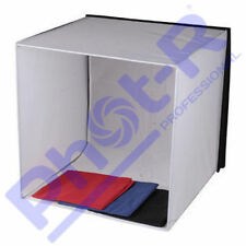 Phot-r Photo Studio Light Tent Cube Soft Box 60x60x60cm 4 Coloured Backdrops