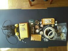Telephone Accessories. Misc Lot of Stuff with 2 Rotary Telephones.