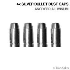 4x Silver Bullet Car Bike Motorcycle BMX Wheel Tyre Valve Aluminium Dust Caps