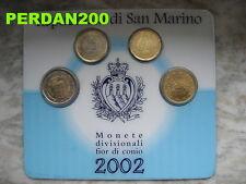 SAN MARINO 2002  MINIKIT UFFICIALE 1 E 2 EURO 20 E 50 CENT FDC SAN MARIN