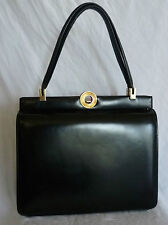 SAC A MAINS VINTAGE CUIR BOX LEATHER HAND BAG GENUINE