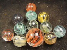 One Dozen Mint Vitro Agate Vintage Caged Cat marbles  with a Shooter  J14a
