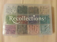 Recollections 240 piece Mini Clothes Pins (Multi-Color) in Storage Container