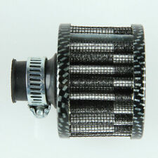 12mm Air Intake Filter Turbine Fuel Saver Engin Mini Fan Carbon Fiber Style