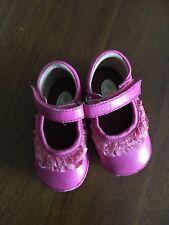Angel Sz 3 Hot Pink Mary Jane Shoes Infant Girl Dressy Ruffles Boutique V2004