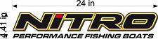 "Nitro Boats Logo / Single / 24"" Vinyl Vehicle Watercraft Decal Sticker / Trailer"