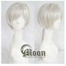 NORN 9 Mikoto long tail silver party  fashion Cosplay Wig Anime hair