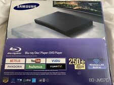 NEW Samsung BD-JM57C Blu-ray and DVD Player with Wi-Fi Streaming Factory Sealed.