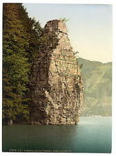 Brunnen Schillerstein Lake Lucerne A4 Photo Print