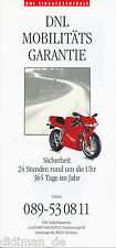 Ducati Cagiva Mobilitätsgarantie Prospekt 1994 brochure Motorradprospekt folder